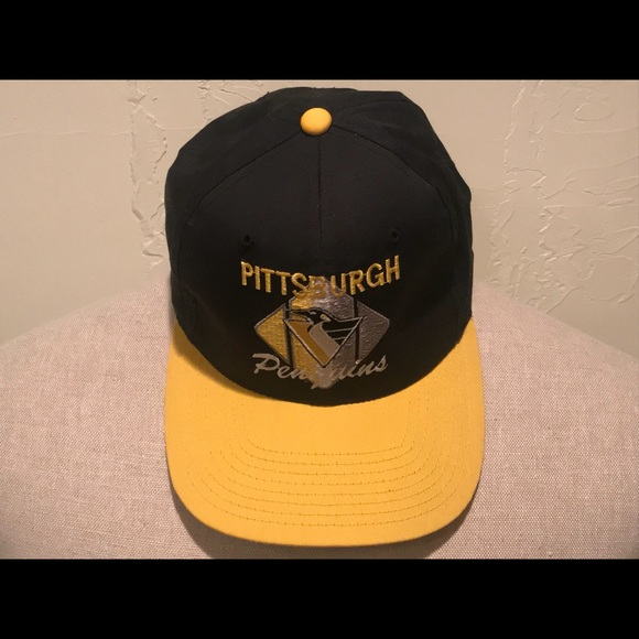 0c3e917ad7a311 CCM Accessories | Vtg Pittsburgh Penguins Hockey Adjustable Hat ...
